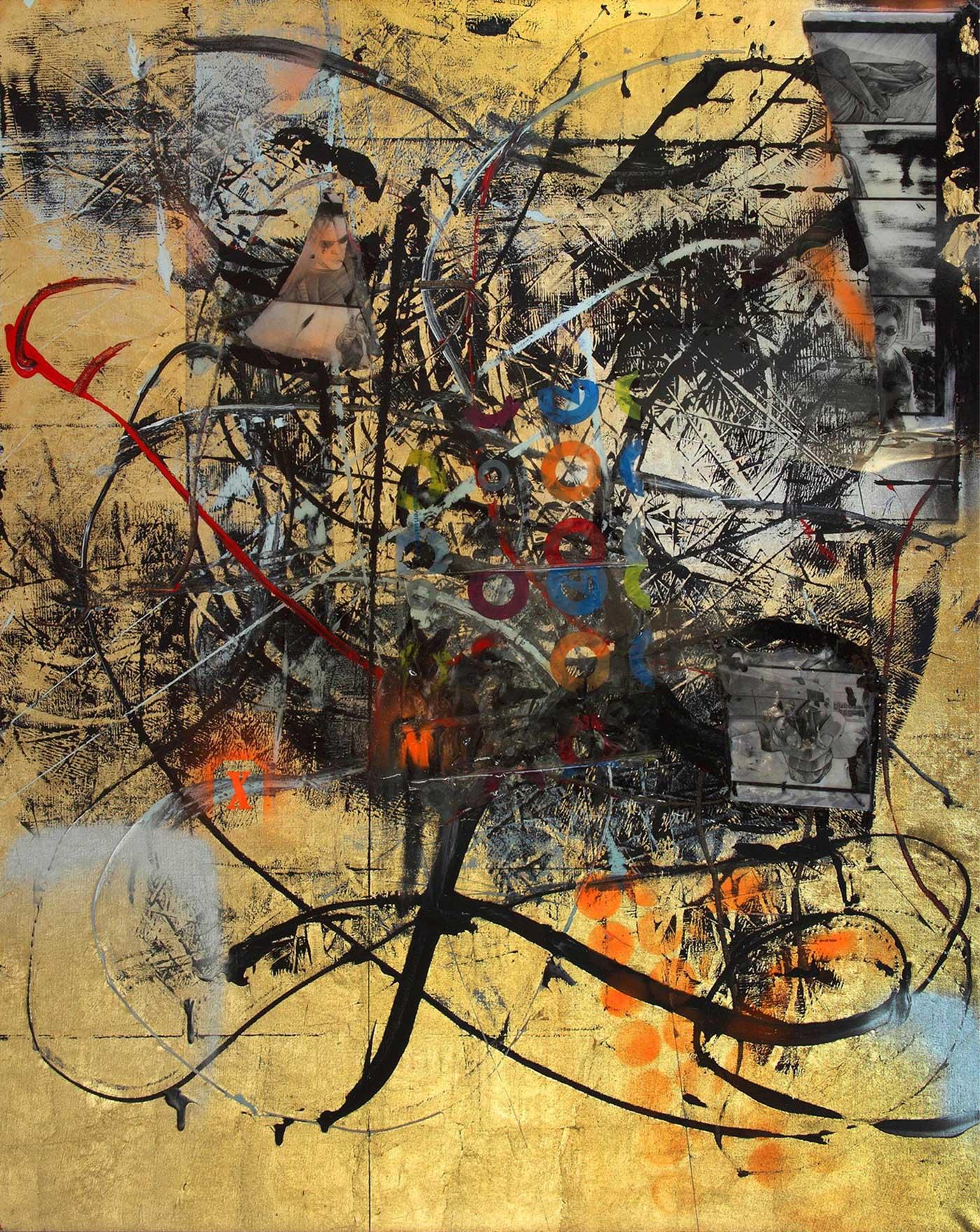 Matrix, Mixed media, 170 x 135 cm